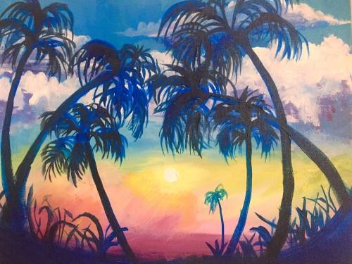 A Tropical Escape paint nite project by Yaymaker
