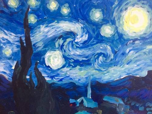 A Starry Starry Night paint nite project by Yaymaker
