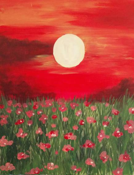 A Red Summer Sky paint nite project by Yaymaker
