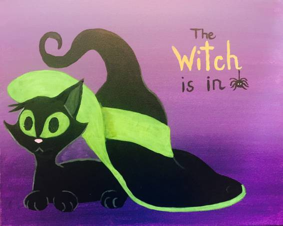 A The Witch is In paint nite project by Yaymaker