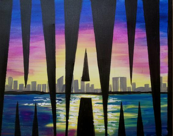 A MIAMI paint nite project by Yaymaker