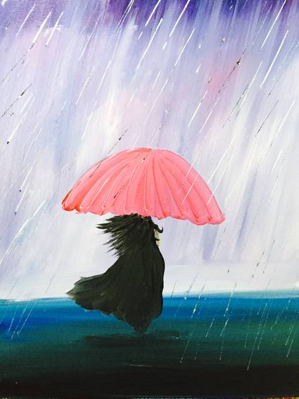 A November Rain paint nite project by Yaymaker