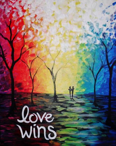 A Love Wins 2015 paint nite project by Yaymaker