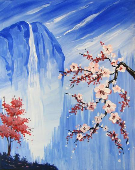 A Enchanted Blossoms paint nite project by Yaymaker