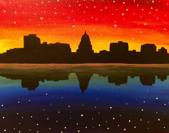 A Starry Night Madison paint nite project by Yaymaker