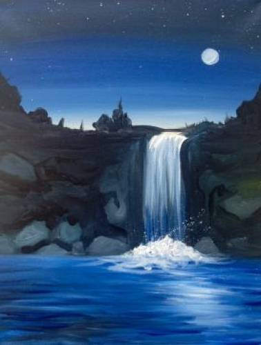 A Solitude Falls paint nite project by Yaymaker