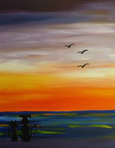 A Wish You Were Here paint nite project by Yaymaker