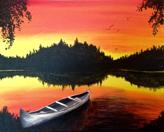 A Boundary Waters Solitude paint nite project by Yaymaker
