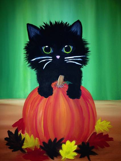 A Beautifall Kitten paint nite project by Yaymaker