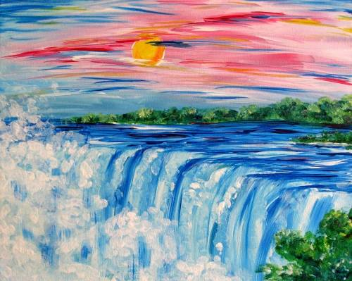 A The Falls II paint nite project by Yaymaker