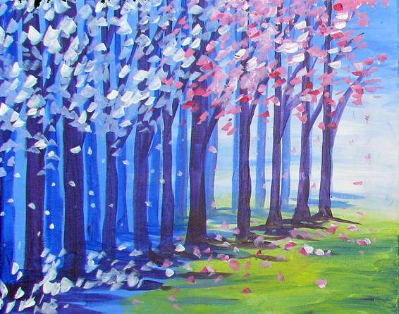 A Winter to Spring paint nite project by Yaymaker