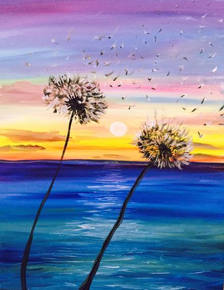 A Night Wish paint nite project by Yaymaker