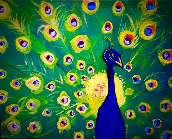 A Solomon the Peacock paint nite project by Yaymaker