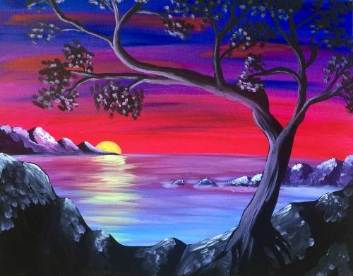 A Madrona On The Rocks paint nite project by Yaymaker
