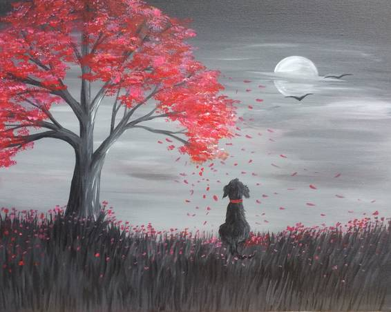 A Autumn Daze paint nite project by Yaymaker