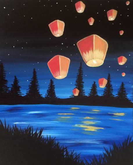 A Lantern Lake paint nite project by Yaymaker