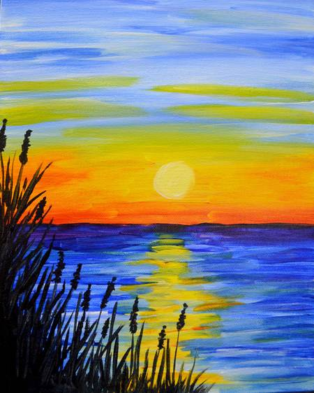 A Morning Lake paint nite project by Yaymaker