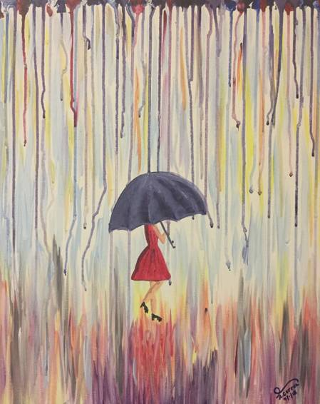 A Rainy Days paint nite project by Yaymaker