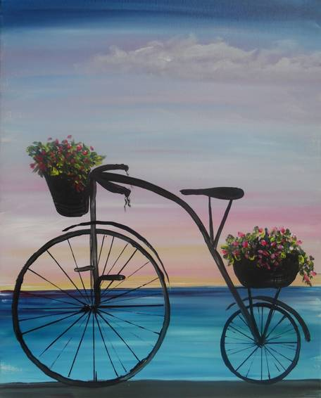 A Beach Bike paint nite project by Yaymaker