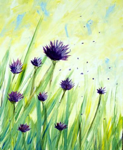 A They Call Me Mellow Meadow paint nite project by Yaymaker