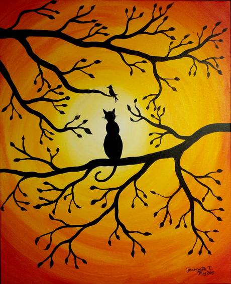 A Sunset Hunt paint nite project by Yaymaker