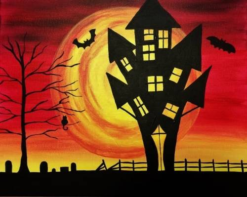 A Fright This Way paint nite project by Yaymaker