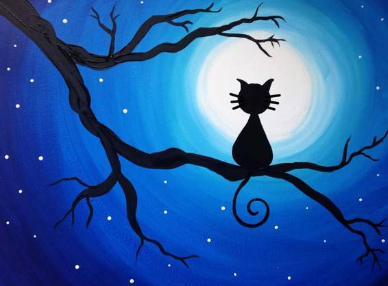 A Meow or Never paint nite project by Yaymaker
