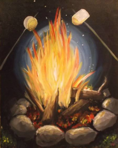 A Toasty Marshmellows paint nite project by Yaymaker