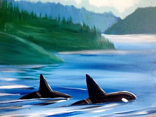 A Coastal Orcas paint nite project by Yaymaker