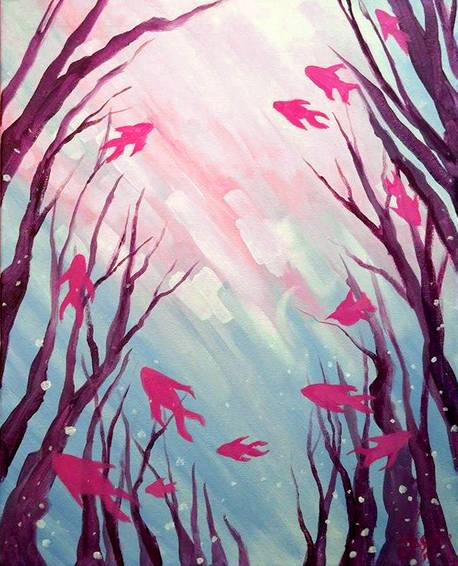 A Fishs Paradise paint nite project by Yaymaker
