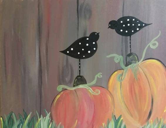 A Pumpkin Love paint nite project by Yaymaker