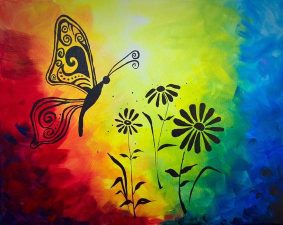 A Brilliant Butterfly paint nite project by Yaymaker