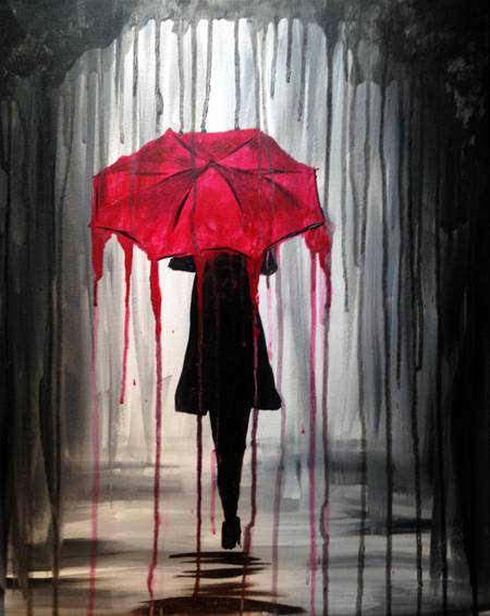 A Rainy Day paint nite project by Yaymaker