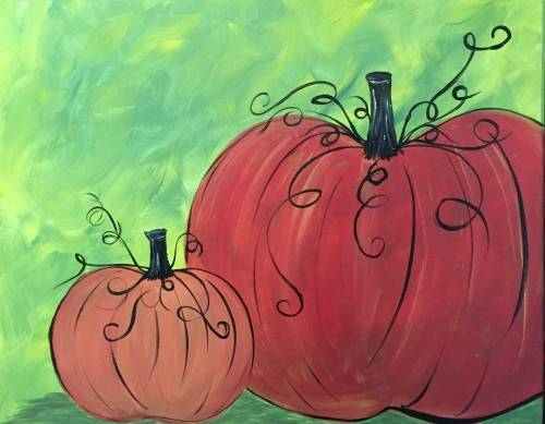 A Fall Pumpkins 2 paint nite project by Yaymaker