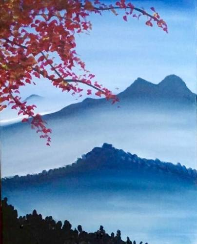 A Misty Mountain paint nite project by Yaymaker