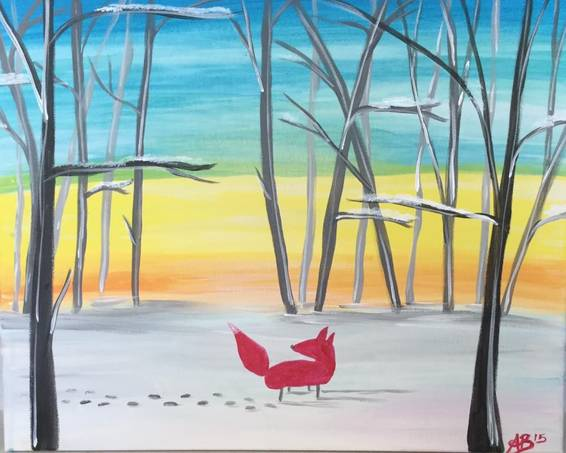 A Winter Wanderer paint nite project by Yaymaker