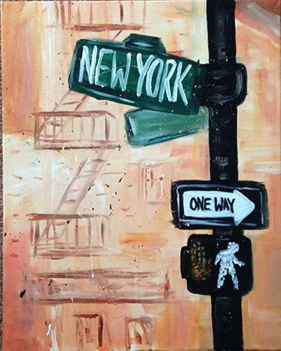 A New York Livin paint nite project by Yaymaker