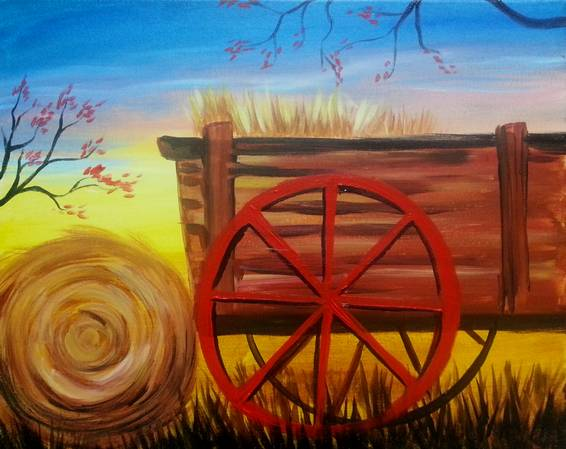 A Hay Ride paint nite project by Yaymaker