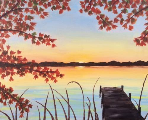 A Autumn Dock paint nite project by Yaymaker