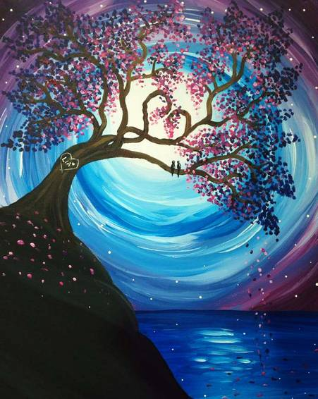 A Love Nest paint nite project by Yaymaker