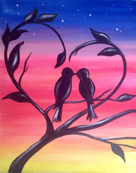 A Second Date paint nite project by Yaymaker
