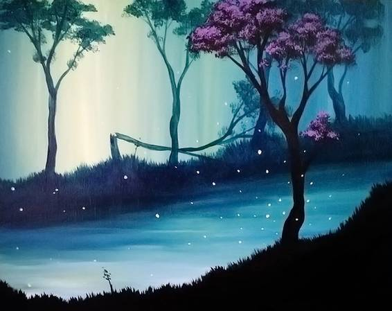 A The Silent Twins Right paint nite project by Yaymaker