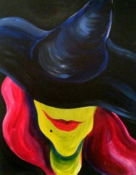 A You Sexy Witch paint nite project by Yaymaker