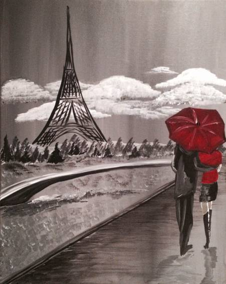 A City of Love paint nite project by Yaymaker