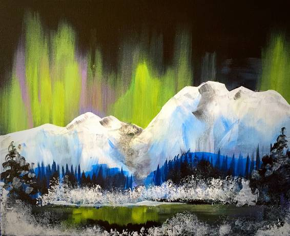 A Alaskan Wonderland paint nite project by Yaymaker
