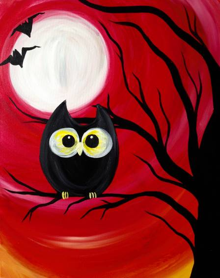 A Spooky Nite paint nite project by Yaymaker