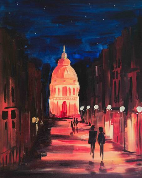 A Capital Night paint nite project by Yaymaker