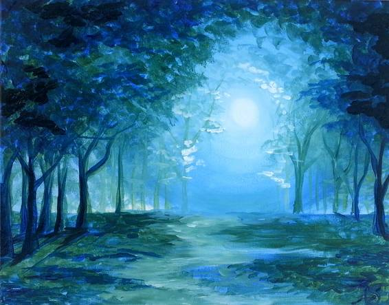 A Mystical Grove paint nite project by Yaymaker