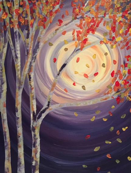 A Autumn Shimmer paint nite project by Yaymaker