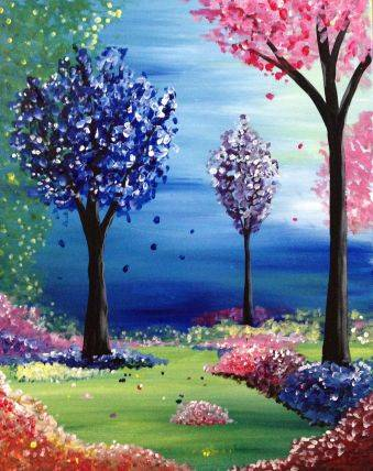 A Candyland Forest paint nite project by Yaymaker